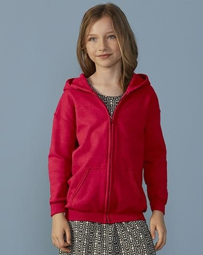 Heavy Blend Kids Full Zip Hooded Sweatshirt