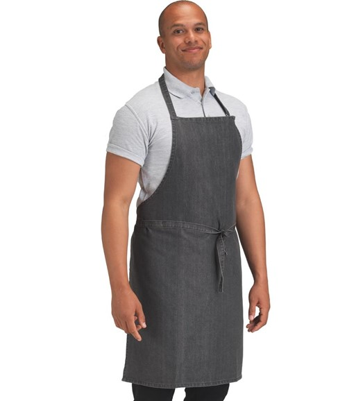 Cross Dyed Denim Bib Apron