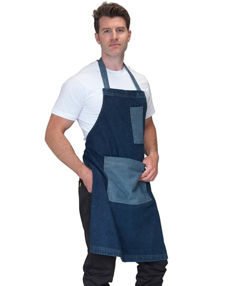 Heavyweight Denim Pocket Bib Apron