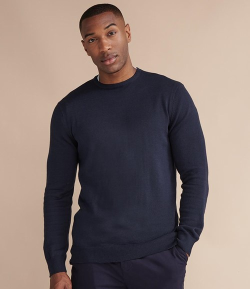 Lightweight Cotton Acrylic Crew Neck Sweater