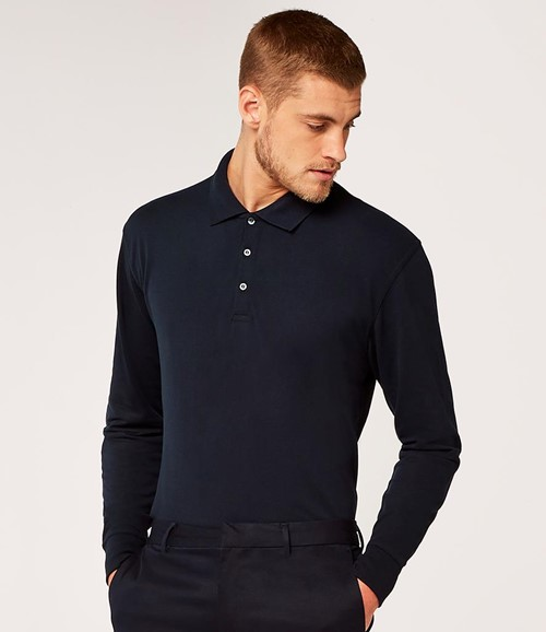 Long Sleeve Poly/Cotton Piqué Polo Shirt