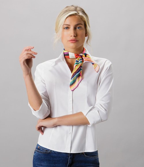 Ladies Premium 3/4 Sleeve Tailored Oxford Shirt