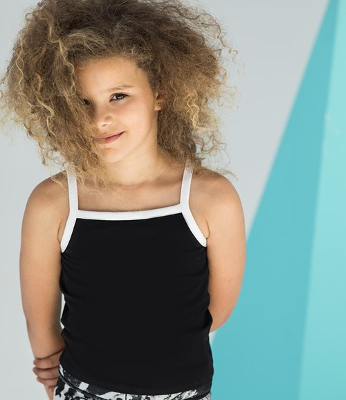 SF Minni Kids Feel Good Stretch Contrast Strappy Vest